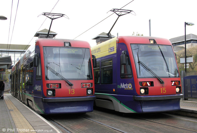 Cars 13 and 15 pass at the Hawthorns on 29th October 2011.