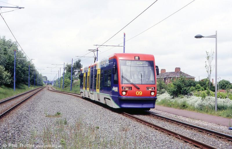 Car 09 near Bradley Lane on 5th June 2004.