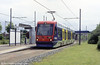 Midland Metro car 11 'Theresa Stewart' at Bradley Lane on 5th June 2004.