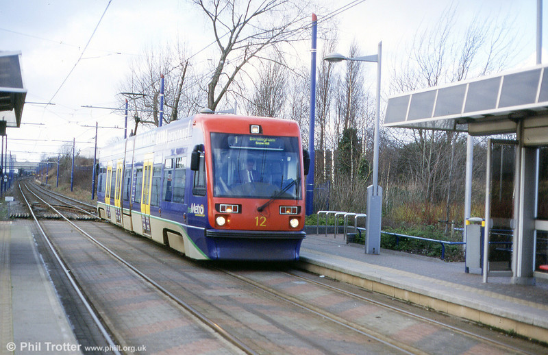 Car 12 at Handsworth, Booth Street in the spring of 2002.