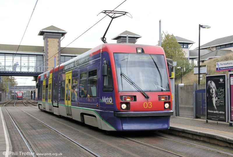 Car 03 pauses at the Hawthorns on 29th October 2011.