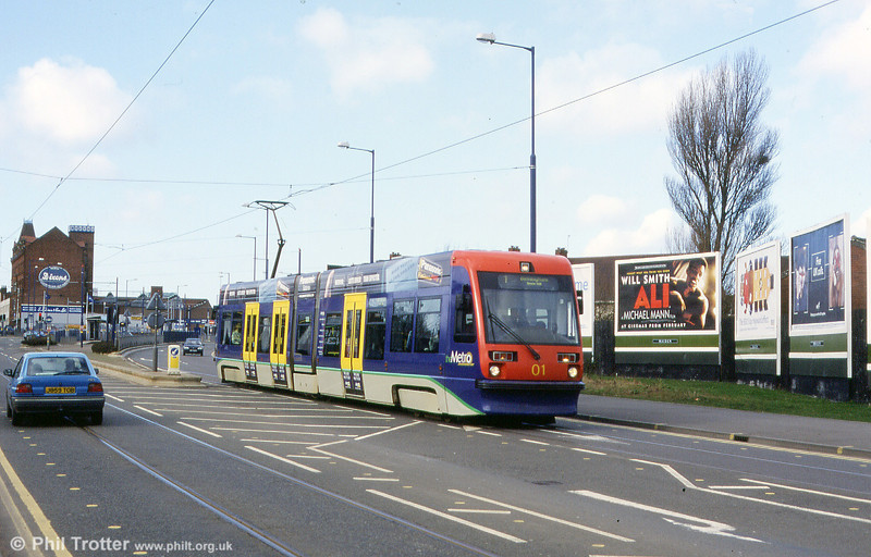 Car 11 on the Bilston Road section near The Royal in the spring of 2002.