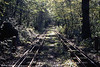 A view of the running line of the Shipley Glen Cable Tramway on 7th October 1990. The line is 386 yards long.