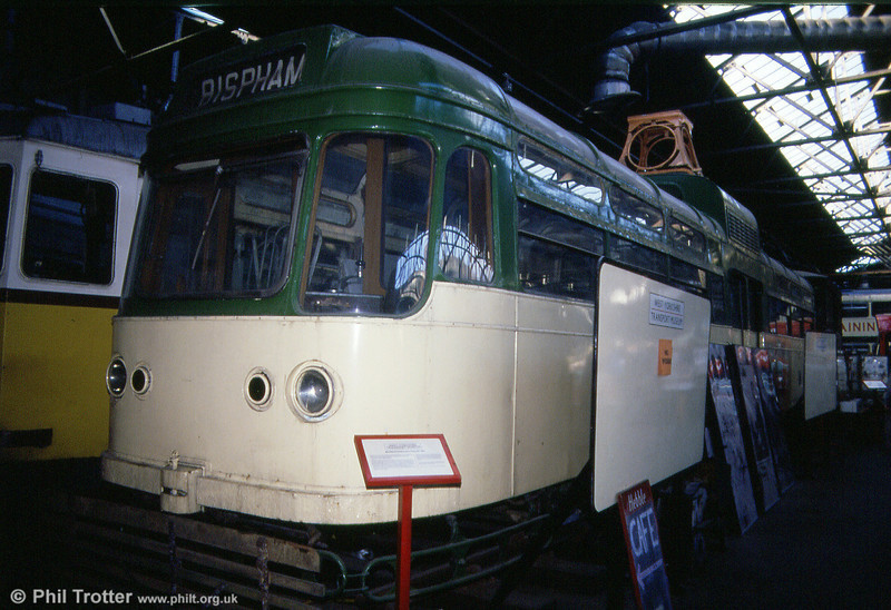 Blackpool 'Coronation' car 663 at the West Yorkshire Transport Museum, 7th October 1990.