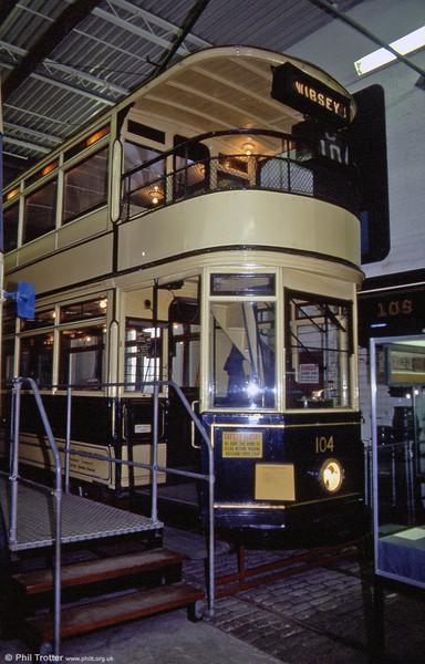 Bradford 104 of 1925 at Bradford Industrial Museum on 6th October 1990.