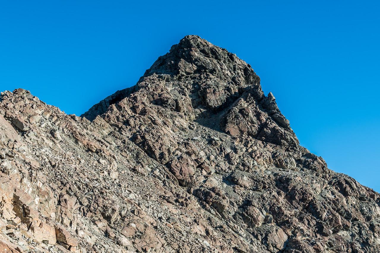 Ailsa Mountains High Peak (Pt 2096m) summit pyramid.