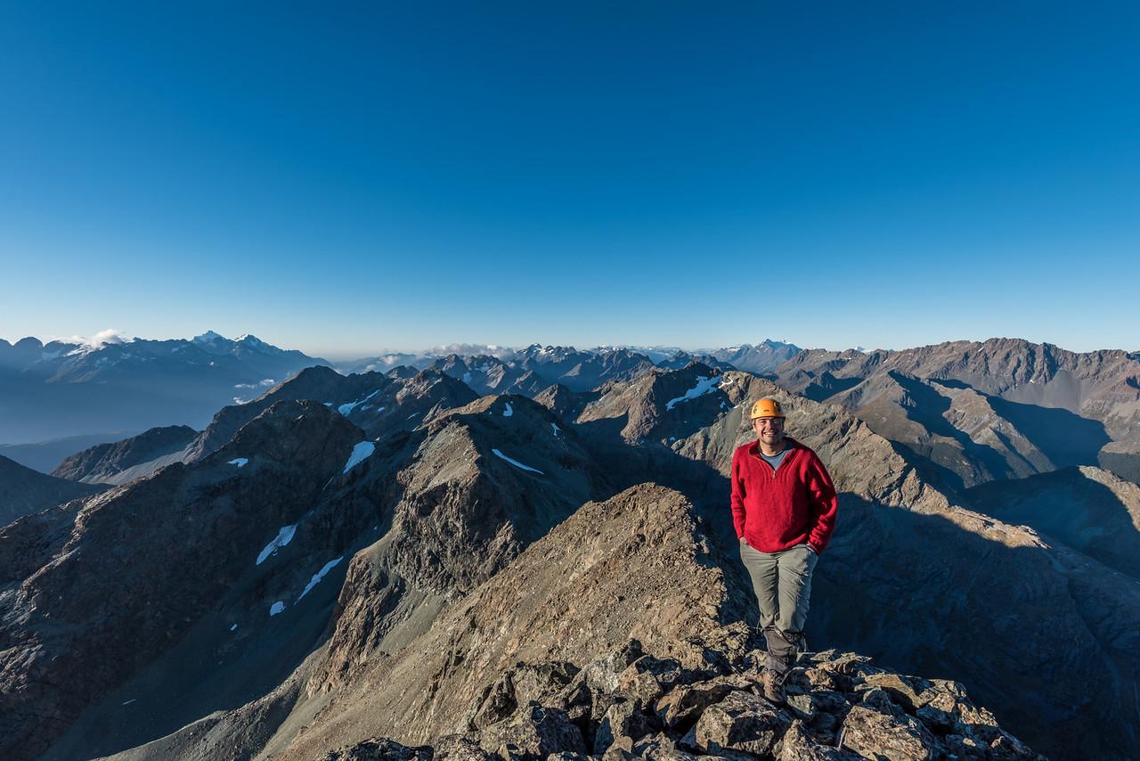On the summit of Pt 2096m, Ailsa Mountains High Peak.