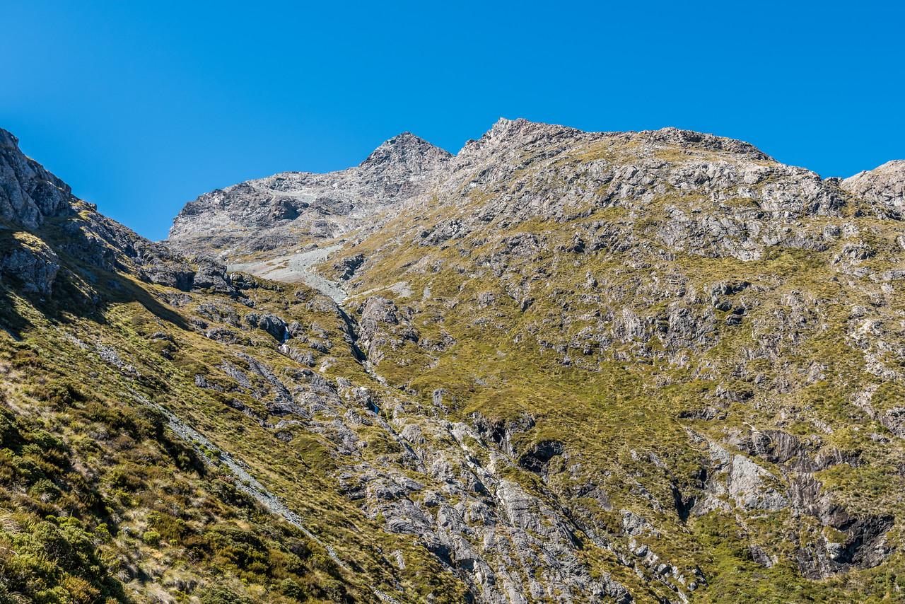 Pt 2096m west face from bushline