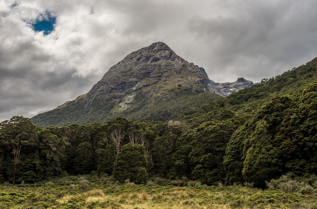 Jean Batten Peak from the Greenstone Valley floor.