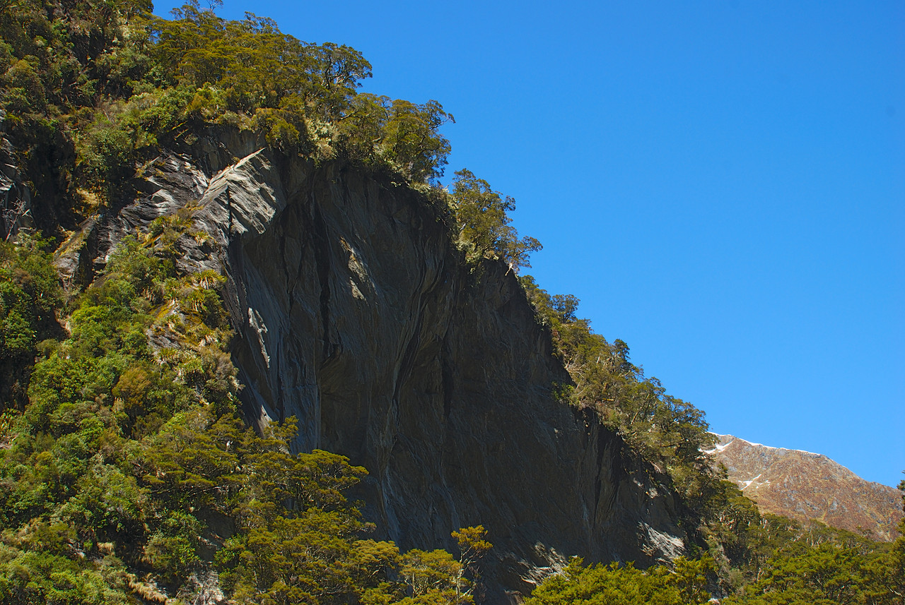 To the rock climbers out there, this crag (100m+ high) looks pretty mean!