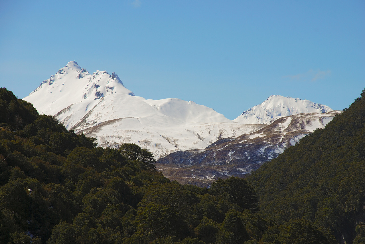 Mount Jumbo (1945m, left) and unnamed peak pt 1836m (right), Albert Burn