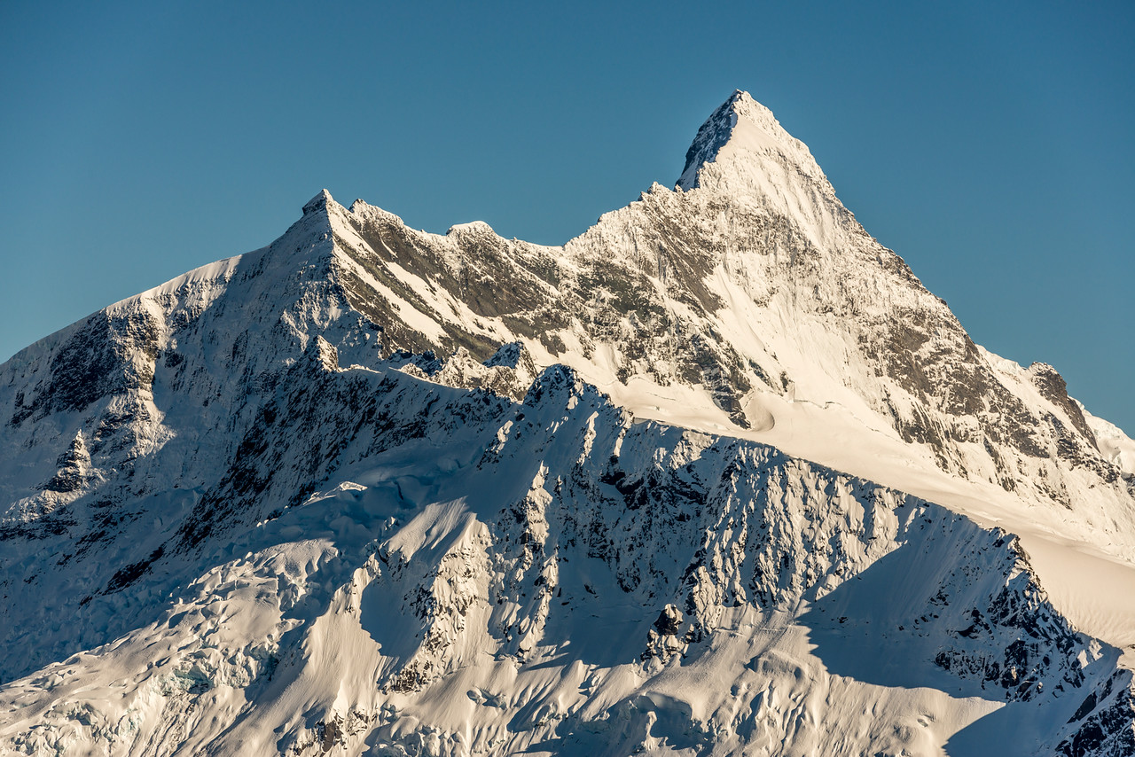 View of Popes Nose and Mt Aspiring from Pt1854m north of Albert Burn Saddle