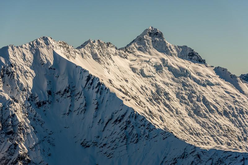 Ruth Ridge and Pickelhaube from Pt 1854m north of Albert Burn Saddle