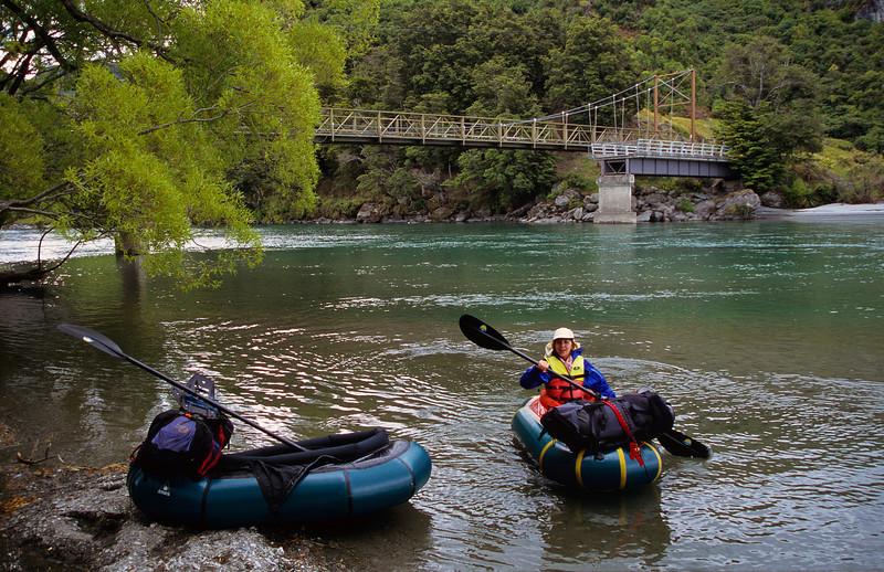 Matukituki River take-out, West Wanaka Rd suspension bridge