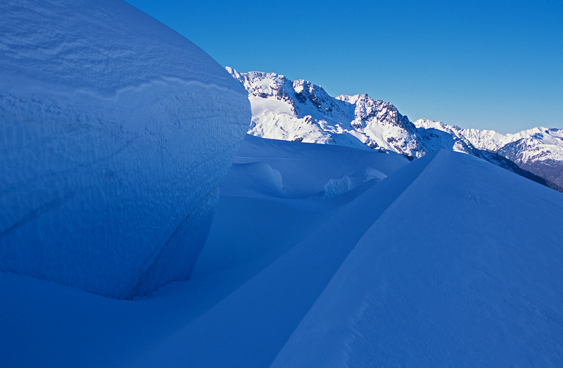 Crevasse on the SSW face