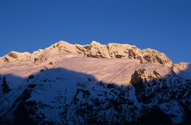 Rob Roy Peak from Liverpool Hut
