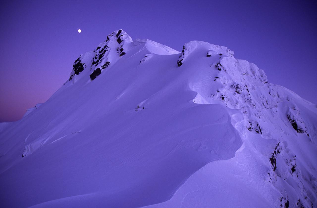 Full moon over Mt Barff