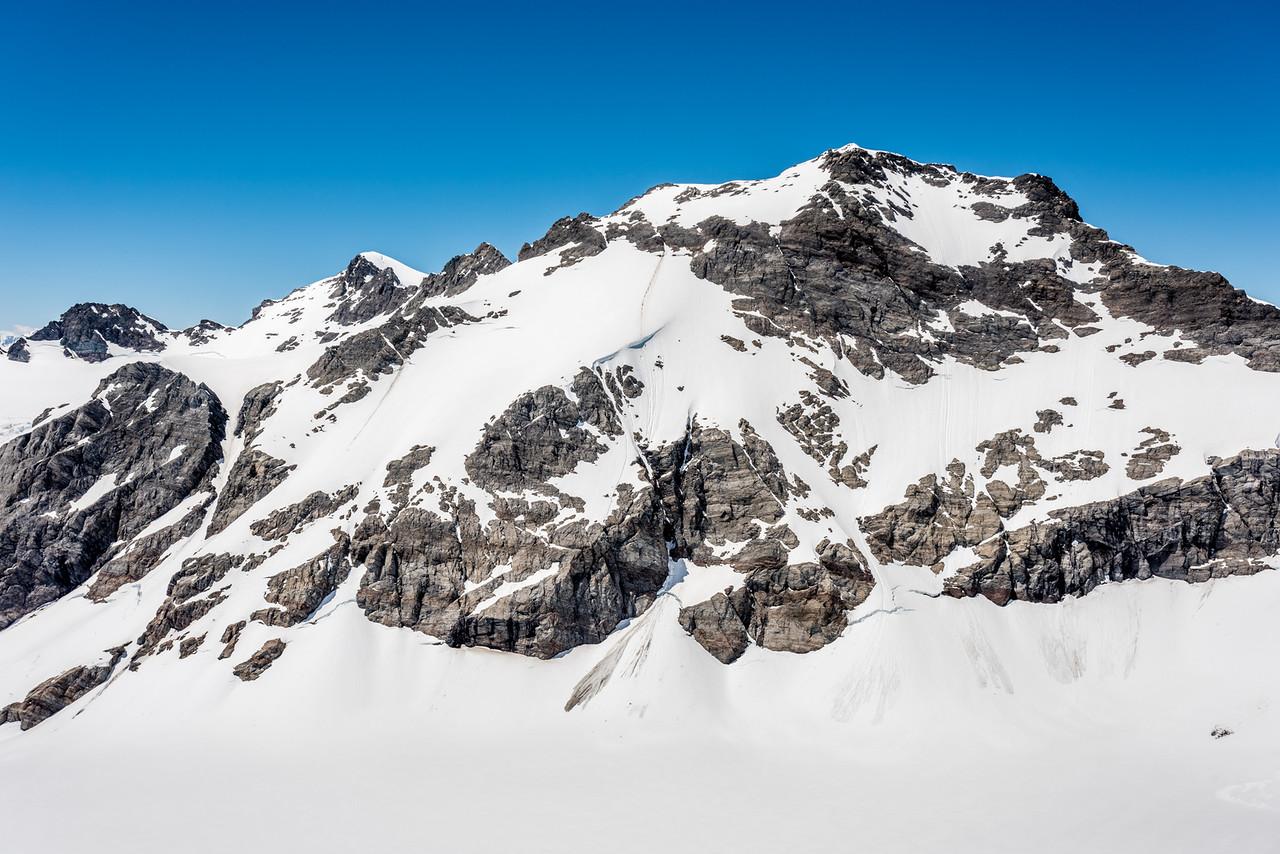 Destiny Peak and Climax Peak from Blockade Peak