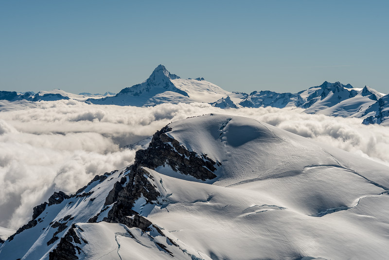 Destiny Peak and Tititea / Mount Aspiring from Climax Peak