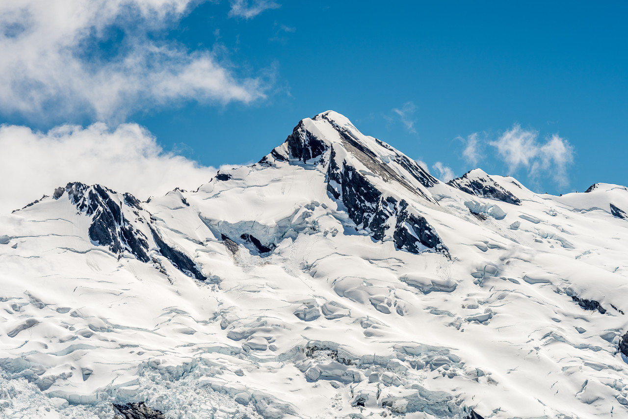 Climax Peak and Twin Icefall from the Derivation Névé
