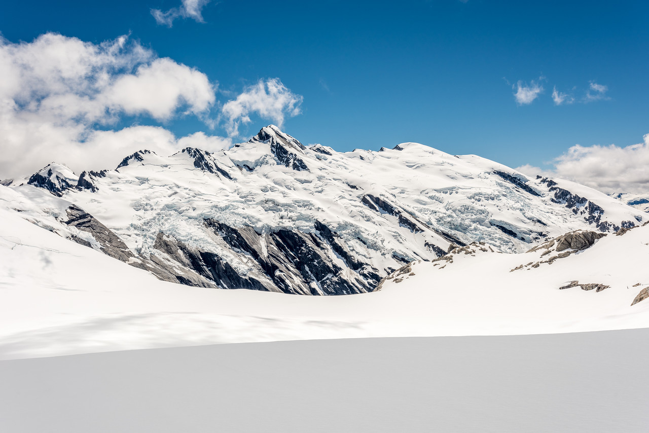 Climax Peak, Destiny Peak and Twin Icefall from the Derivation Névé