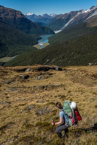 Descending the spur below Seal Col, Barrier Range