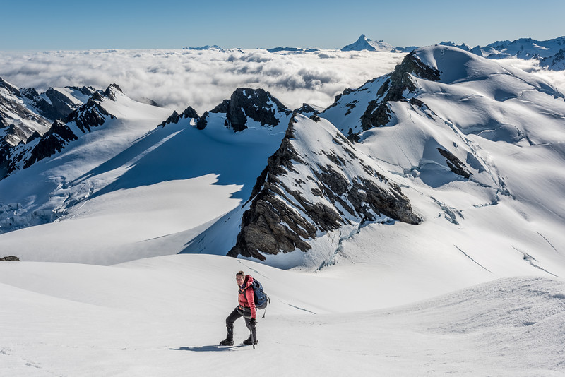 Climbing Climax Peak, Olivine Wilderness.