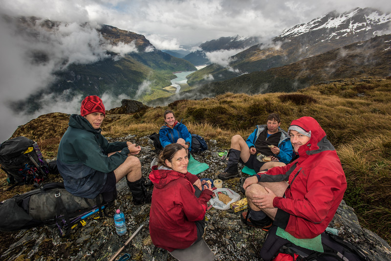 Lunch on the spur below Seal Col, Barrier Range