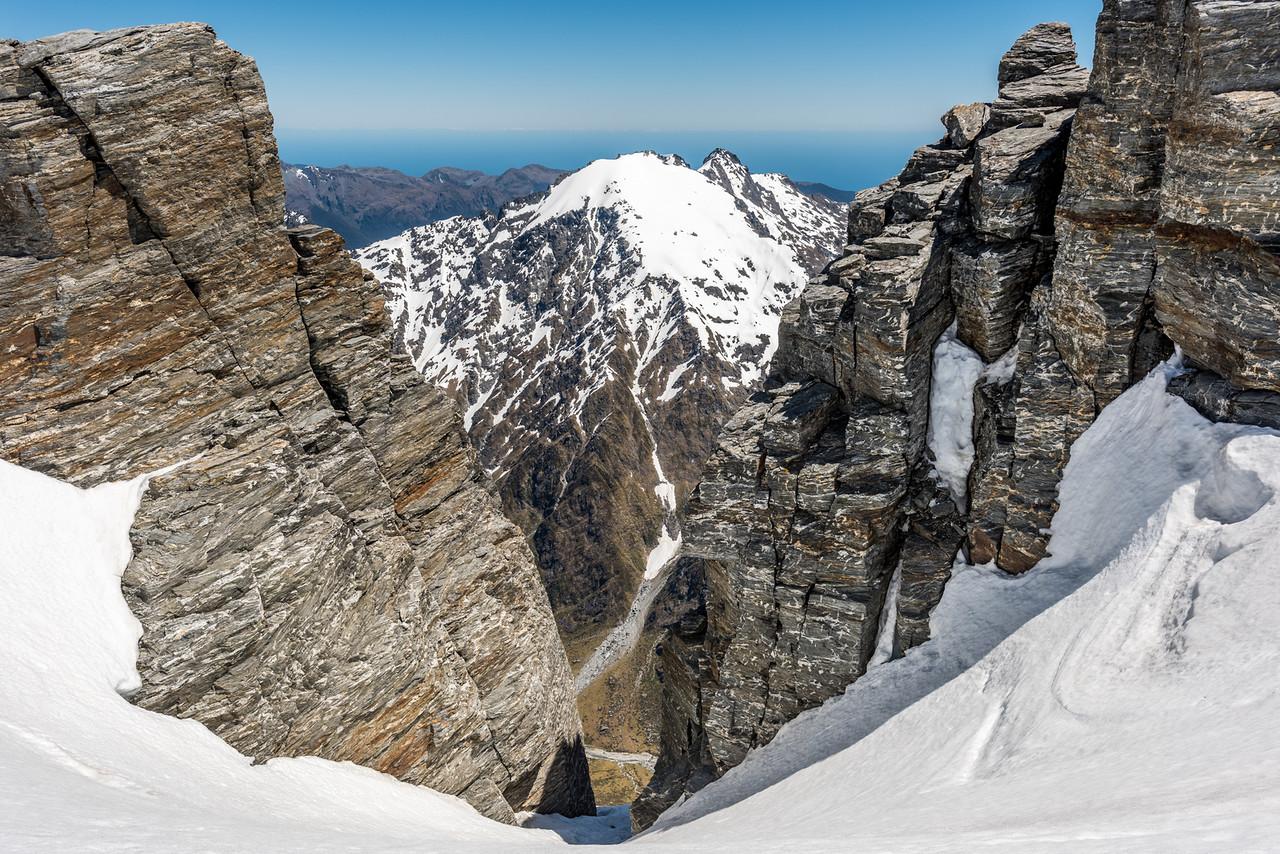 View of McClimont Peak from the summit  ridge of Blockade Peak