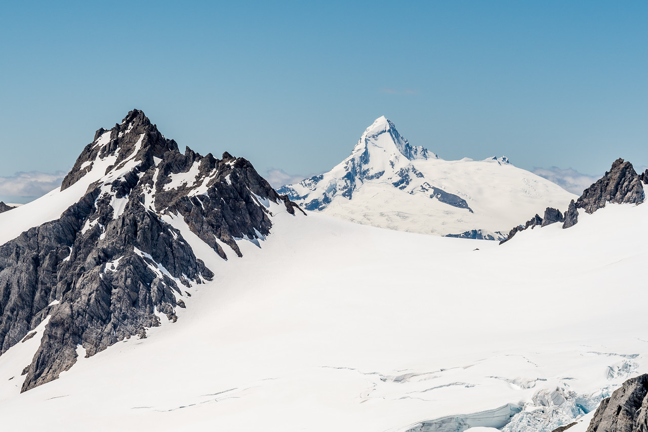 Passchendaele Peak and Tititea / Mount Aspiring from Blockade Peak