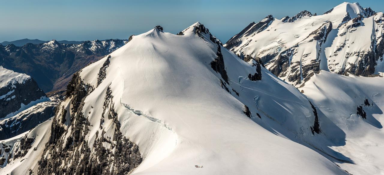 Campsite below Blockade Peak, Olivine Ice Plateau. Ark is in the top right corner.