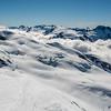 Destiny Peak, Tititea / Mount Aspiring, Mount Lydia, Mount Ian from the summit of Climax Peak