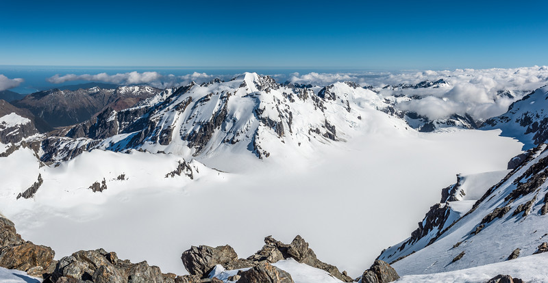 Olivine Ice Plateau panorama from Climax Peak.