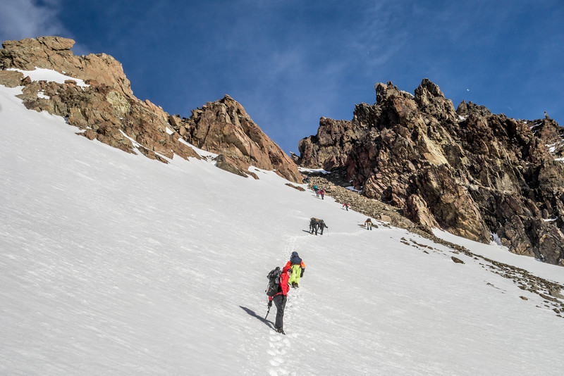 Climbing Bold Peak