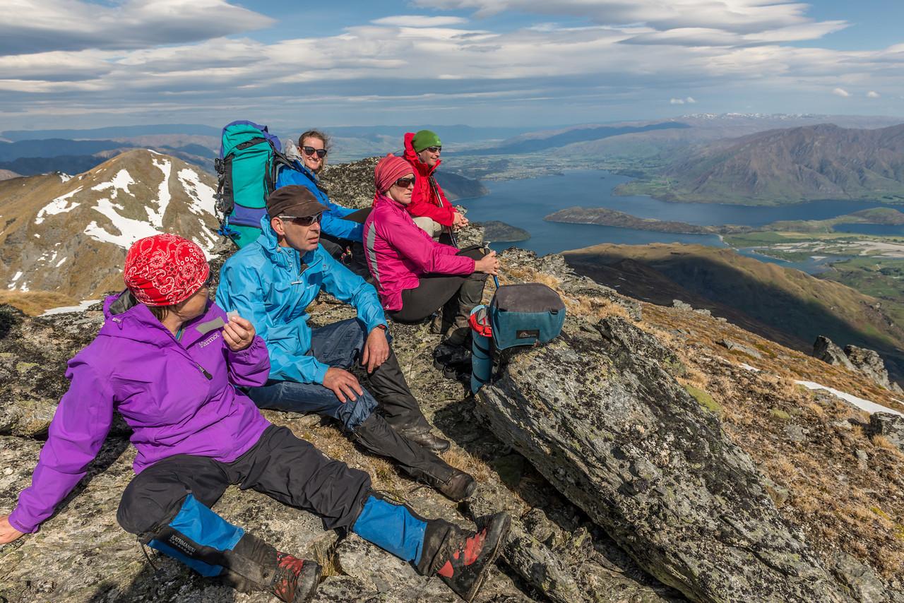 The team on the Buchanan middle peak