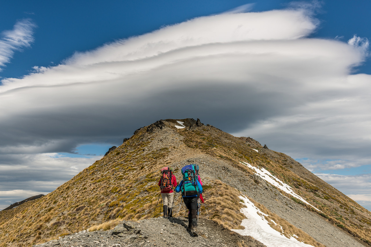 On the west ridge of the Buchanan Middle Peak