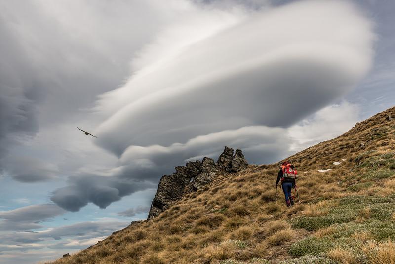 On the west ridge of the Buchanan Low Peak