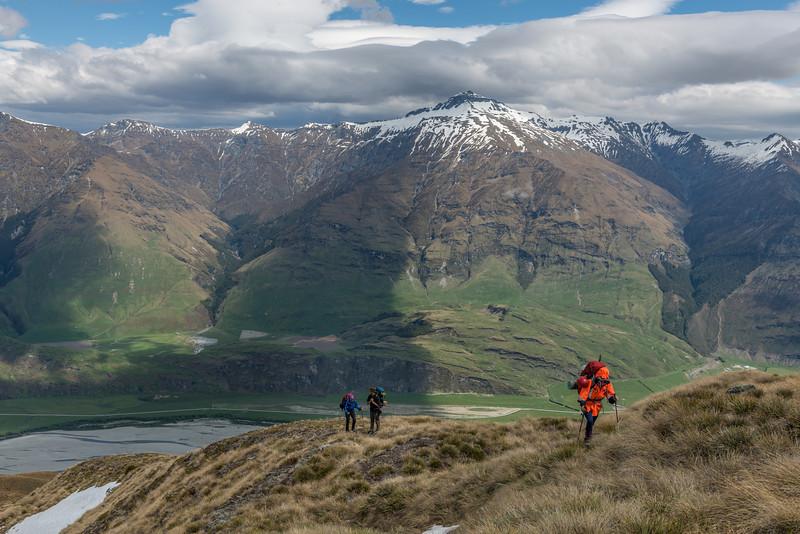 On the south-west spur of the Buchanan Peaks. Black Peak behind