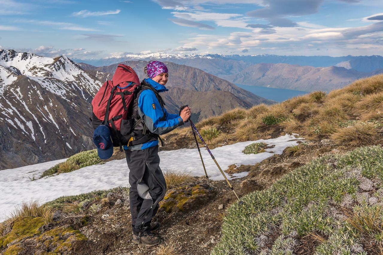 Nearing the summit of the Buchanan Low Peak