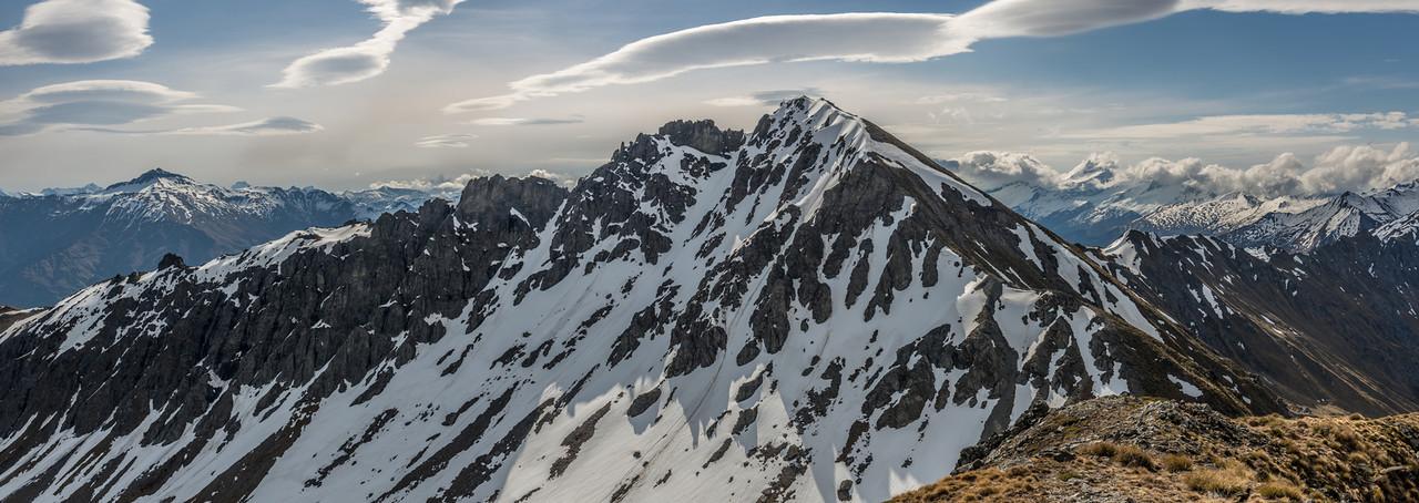 The Buchanan High Peak from the Middle Peak. Black Peak back left