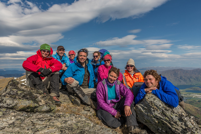 The team on the Buchanan middle peak