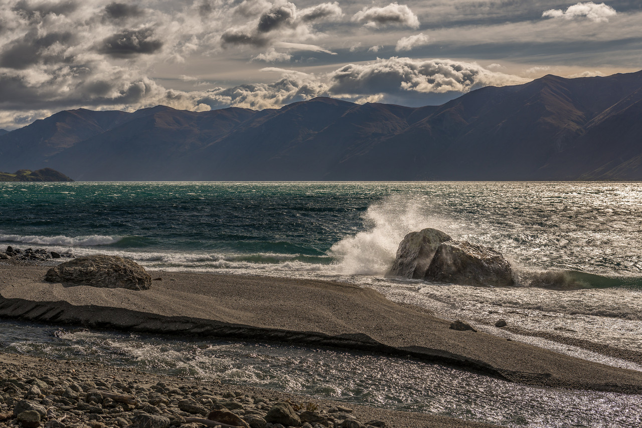 Wave action on Lake Wanaka