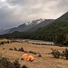 Campsite at Mid Caples Hut, Caples Track