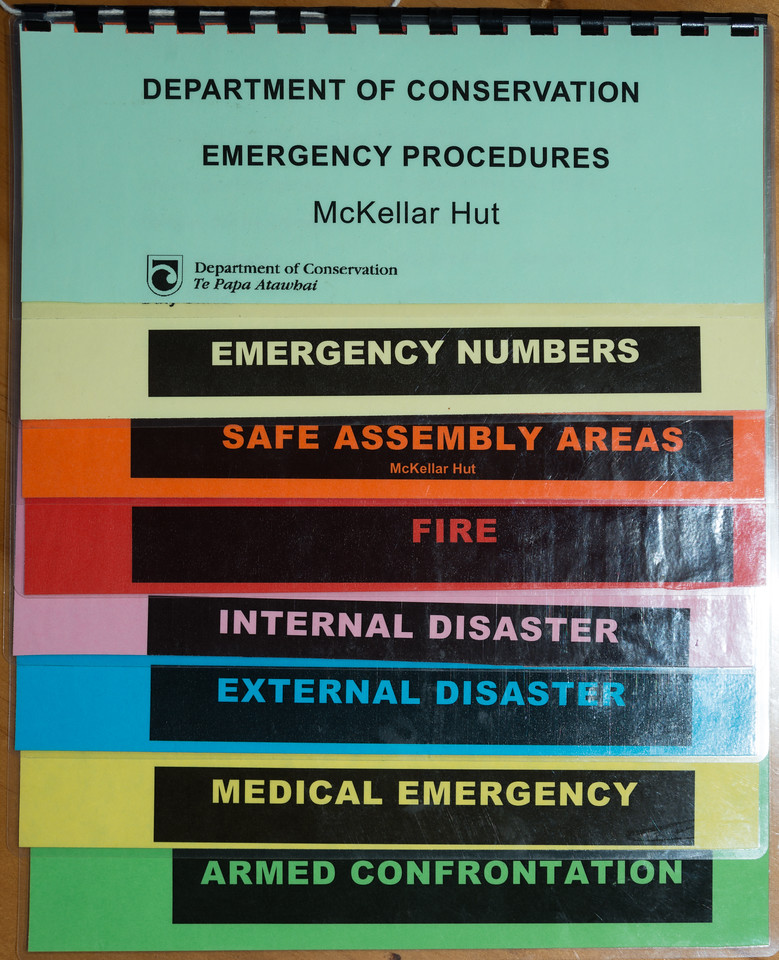 McKellar Hut emergency procedures