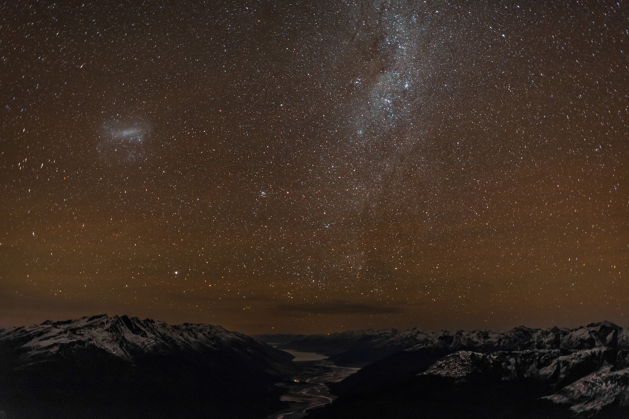 Milky Way over the Makarora River and Lake Wanaka
