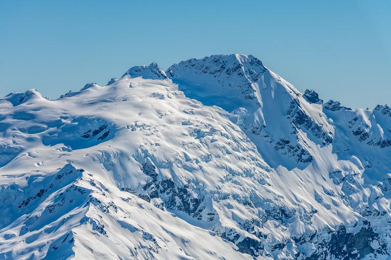 Bernard Peak and Mount Ian from Cleft Peak.