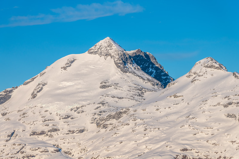 Mount Earnslaw and O'Leary Peak from the slopes of Cleft Peak.