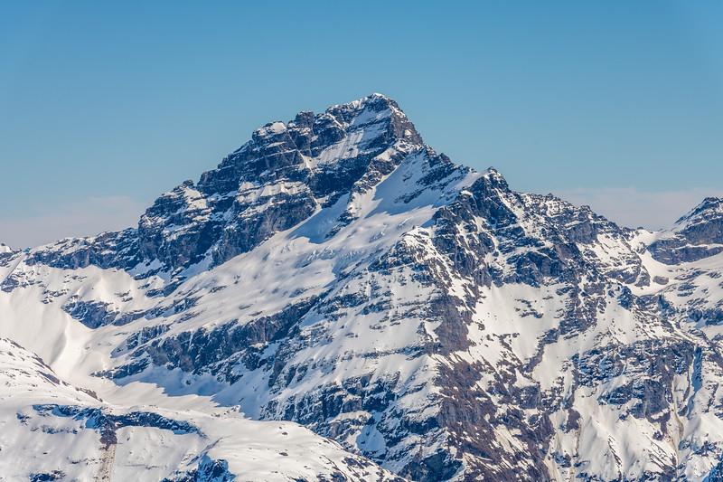 Sir William Peak from the slopes of Cleft Peak