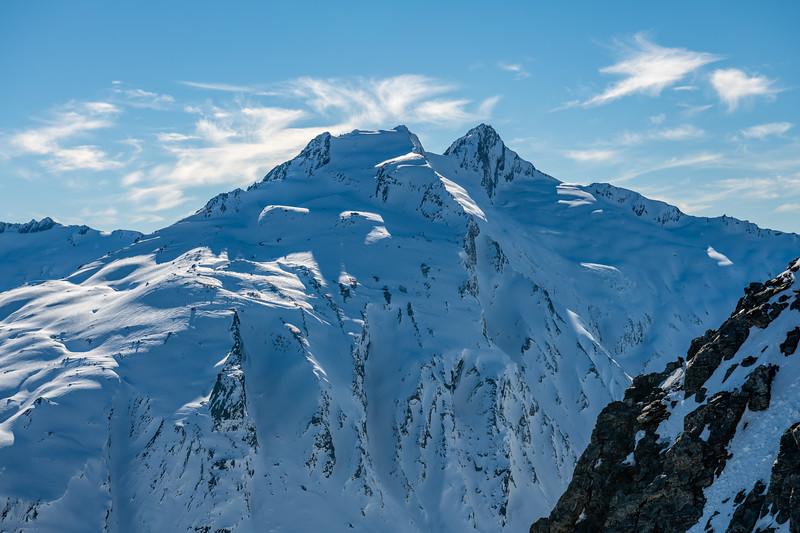 Headlong Peak and Mount Tewha.