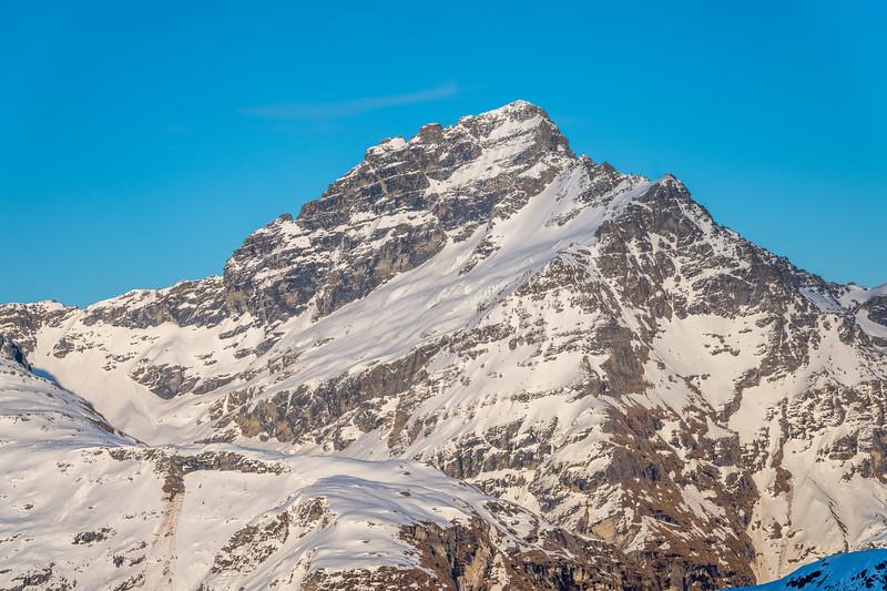 Sir William Peak from the slopes of Cleft Peak.